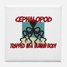 Cephalopod trapped in a human body Tile Coaster