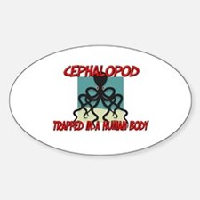 Cephalopod trapped in a human body Oval Decal