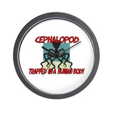 Cephalopod trapped in a human body Wall Clock