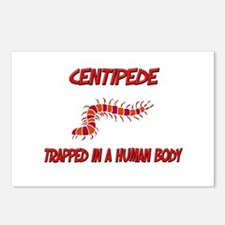 Centipede trapped in a human body Postcards (Packa