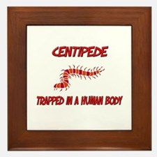 Centipede trapped in a human body Framed Tile
