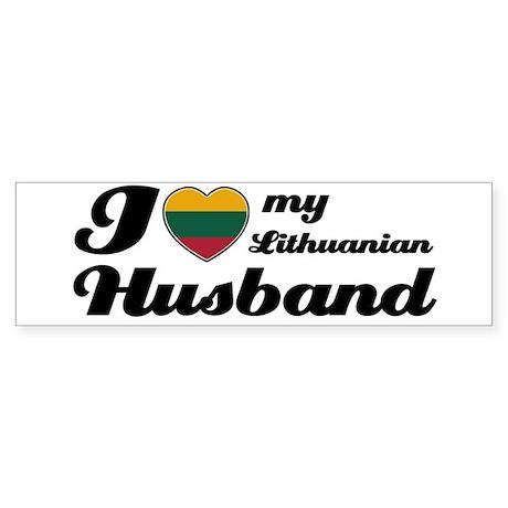 I love my Lithuanian Husband Bumper Sticker