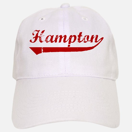 Hampton (red vintage) Baseball Baseball Cap