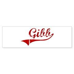 Gibb (red vintage) Bumper Bumper Sticker