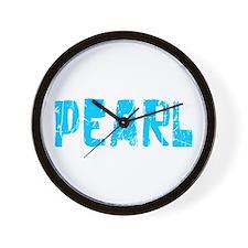 Pearl Faded (Blue) Wall Clock