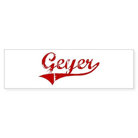 Geyer (red vintage) Bumper Sticker