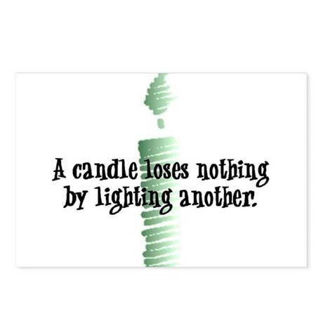 A candle loses nothing Postcards (Package of 8)