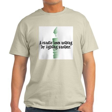 A candle loses nothing Ash Grey T-Shirt