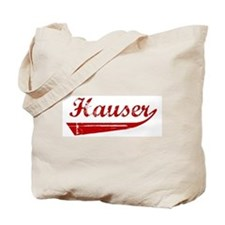 Hauser (red vintage) Tote Bag