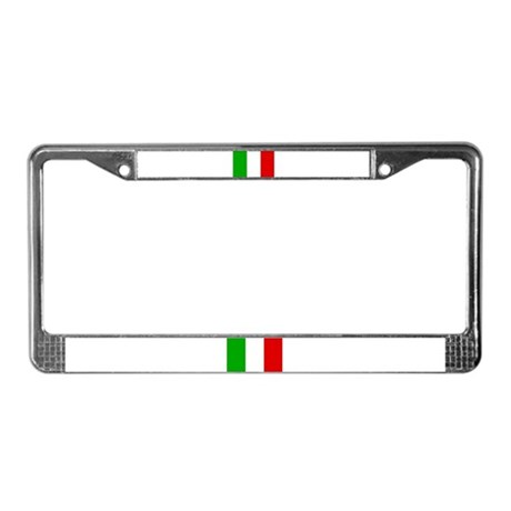 Italian Flag Small License Plate Frame