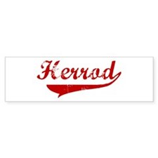 Herrod (red vintage) Bumper Car Sticker