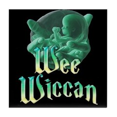 Wee Wiccan Baby Tile Coaster