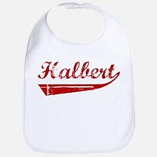 Halbert (red vintage) Bib