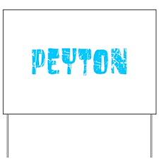 Peyton Faded (Blue) Yard Sign