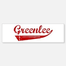 Greenlee (red vintage) Bumper Bumper Bumper Sticker
