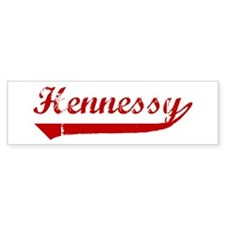 Hennessy (red vintage) Bumper Bumper Sticker
