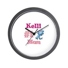 Kelli - #1 Mom Wall Clock