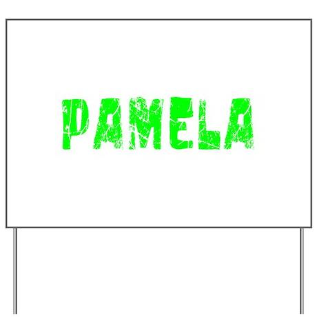 Pamela Faded (Green) Yard Sign