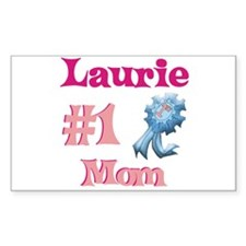 Laurie - #1 Mom Rectangle Decal