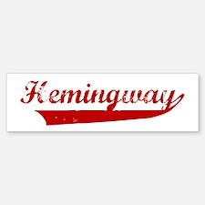 Hemingway (red vintage) Bumper Bumper Bumper Sticker