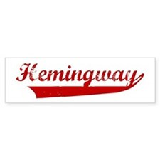 Hemingway (red vintage) Bumper Bumper Sticker