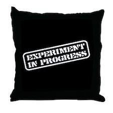 Experiment in Progress Throw Pillow