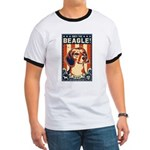 Obey the Beagle! American Beagle Ringer T