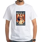 Obey the Beagle! USA 2-sided White T-Shirt