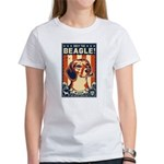 Obey the Beagle! USA 2-sided Women's T-Shirt