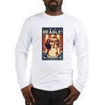 Obey the Beagle! USA Long Sleeve T-Shirt