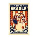 Obey the Beagle! USA Mini Poster Print