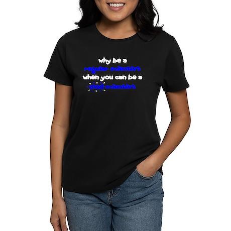 Regular vs Mad Scientist Women's Dark T-Shirt