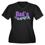 Dad's Lil' Sidekick Women's Plus Size V-Neck Dark