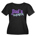 Dad's Lil' Sidekick Women's Plus Size Scoop Neck D