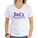 Dad's Lil' Sidekick Women's V-Neck T-Shirt