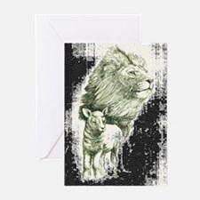 Lion and the lamb Greeting Cards (Pk of 10)