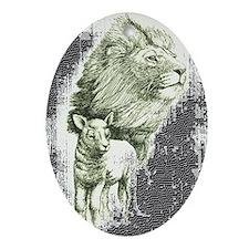 Lion and the lamb Keepsake (Oval)