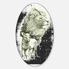 Lion and the lamb Oval Decal