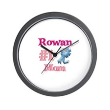 Rowan - #1 Mom Wall Clock