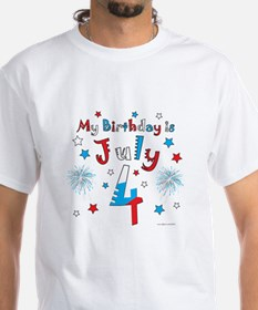 July 4th Birthday Red, White, Blue Shirt