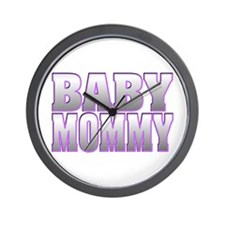 Baby Mommy Wall Clock