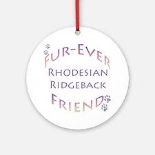 Ridgeback Furever Ornament (Round)