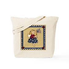 Patriotic Angel Tote Bag