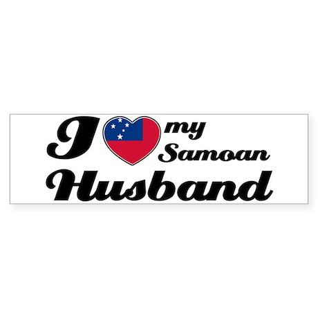 I love my Samoan Husband Bumper Sticker