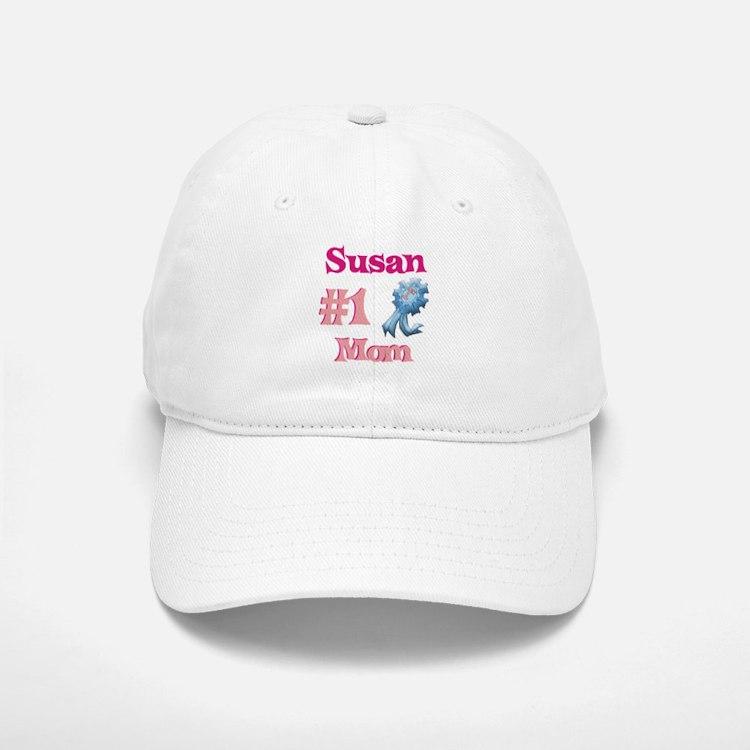 Susan - #1 Mom Baseball Baseball Cap