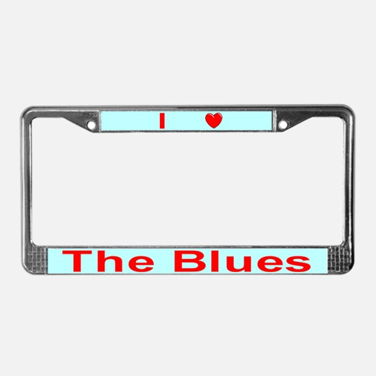 Blues License Plate Frame