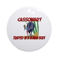 Cassowary trapped in a human body Ornament (Round)