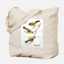 Audubon Evening Grosbeak Birds Tote Bag