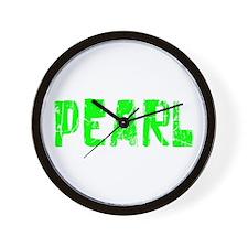 Pearl Faded (Green) Wall Clock