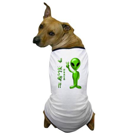 Alien Peace Dudes 9 Dog T-Shirt
